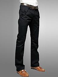 mode casual couleur unie longues pantalon slim de lesen hommes o