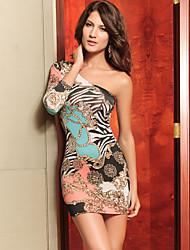 Dearlove impresión vestido de flores de las mujeres de un hombro de la moda sexy