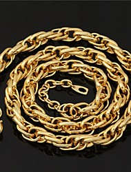 U7  Cool Men's 18K Chunky Gold Filled Twisted Link Chain Necklace 11MM 22Inches (55CM)