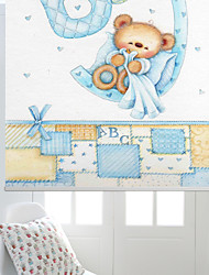 bebé de dibujos animados niño oso persiana
