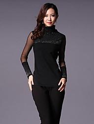 Women's High Collar Long Sleeve Blouse