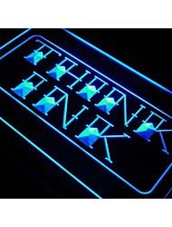 j615 pense signe encre boutique de tatouage affichage néon de lumière