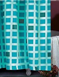 rejilla verde de ducha de poliéster cortina