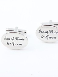 "Groom/Groomsman ""Son Of Bride & Groom"" Brass Cufflinks"