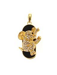 zp diamante 32gb unidade padrão elefante dourado que bling diamante estilo de metal flash USB