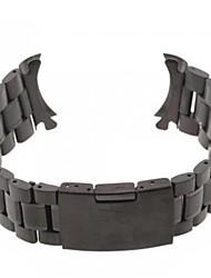 Unisex Steel Watch Band Strap24MM (Black)