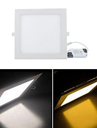 18W 1 SMD 3528 1680 LM Warm White / Cool White LED Panel Lights AC 85-265 V