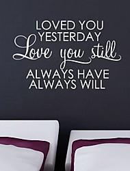 jiubai ™ etiqueta de la pared decoración de casa amor etiqueta de la pared