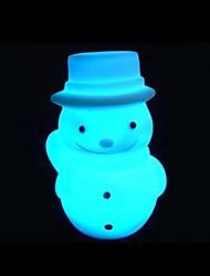 Noël conception de bonhomme de neige la nuit plastique léger (x1pcs de couleur aléatoire)