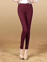 Women's Black/Green/Red Skinny Pants , Sexy/Bodycon