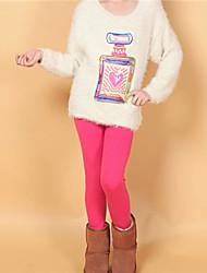 bb&leggings de cores sólidas de k Criança (fúcsia)