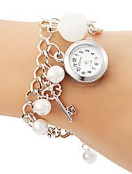 Women's Pearl Pendant Alloy Band Quartz Bracelet Watch Cool Watches Unique Watches