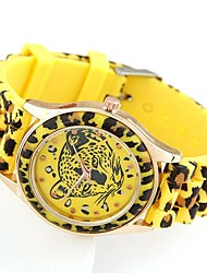 Women's Fashion Casual Ladies Wild Leopard Candy colored Silicone Watches(Assorted Colors)