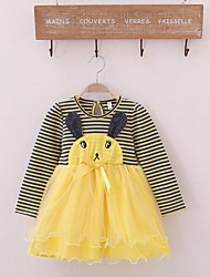 Girl's  Cotton Long-Sleeved  Dresses