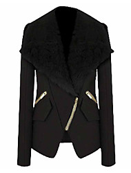 Women's Coats & Jackets , Polyester Casual LIRONG