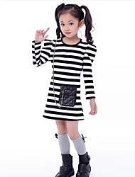 Girl's Cotton Blend/Polyester Dress , Spring/Fall Long Sleeve