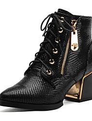 Da donnaFormale-Stivali / A punta-Quadrato-Di pelle-Nero / Blu