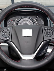 XuJi ™ Black Genuine Leather Steering Wheel Cover for Honda CRV CR-V 2012 2013