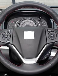 Xuji ™ véritable couverture de volant en cuir noir pour Honda CRV CR-V 2012 2013