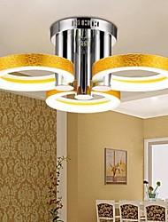 lampadario in acrilico led con 3 luci (oro) - 90-240v