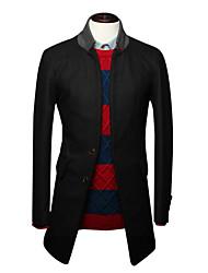 g&y simples manteau occasionnel (noir, café, vert)