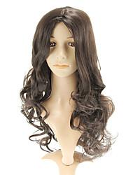 Capless Fashional Black Long Wavy Wigs Side Bang