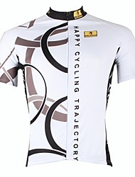 PALADIN Cycling Tops / Jerseys Men's Bike Breathable / Ultraviolet Resistant / Quick Dry Short Sleeve 100% Polyester Stripe WhiteS / M /