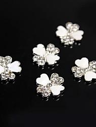 10pcs  Group Flower With Heart Petal 3D Rhinestones  Alloy Nail Art Decoration
