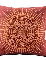 помада красная солнце хлопок / лен декоративная наволочка