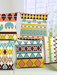 Cotton/Linen Pillow Cover , Geometric Modern/Contemporary