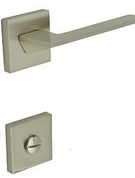 Brushed Nickel Alloy One Set Door Handle WC Hole
