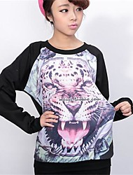 Women's Tiger Print Blouse T-Shirts