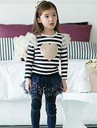 Girl's Stripe and heart Longsleeve Clothing Sets