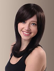 Matched Face And Fashion Medium Straight Length Human Hair Wigs