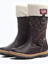 Botas ( Marrón/Rojo ) - Comfort/Botas de nieve/Dedo redondo - Cuero Artificial/Piel Artificial