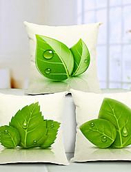 набор 3 красивые листья хлопка / льняной декоративной подушки крышки