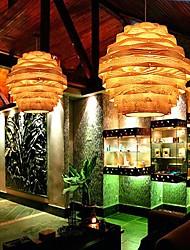 pendentif lumière une lumière de 40 cm en bois moderne