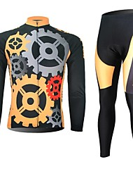 XINTOWN Men's Gear Quick Dry Moisture Absorption Long Sleeve Cycling Suit—Black+Yellow