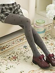 Women's Fashion  Gray Bow Pantyhose
