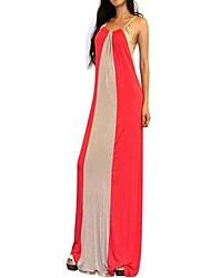 vestido de colete cinto condoer cor listra splicing bater das mulheres