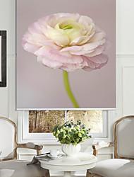 le style botanique pivoine blanche toile à rouleau