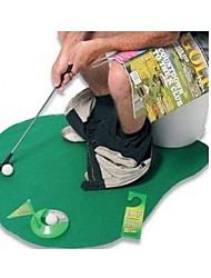 mini-tapis de golf fixé pour WC salle de bain jouets