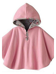 Girl Children's Reversible Hooded Cloak Poncho Jacket Outwear Coat