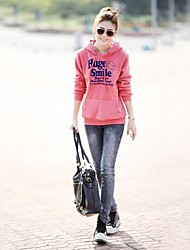 Women's V Neck Cute Letter Print Sport Casual Hoodies Sweatshirt