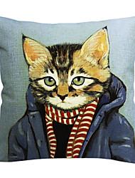 Современный круто кошка хлопок / лен декоративная наволочка