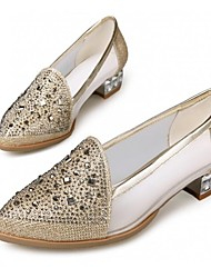 Women's Shoes Pointed Toe Low Heel Loafers with Rhinestone Wedding Shoes More Colors available