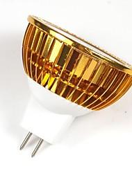 LOHAS® MR16 5W 380-450LM 2800-3200K Warm White Light Gold Shell LED Spot Bulb (DC 12V)
