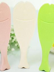 Plastic Can Stand Fish Non-stick Rice Scoop,20x7x1cm Color Random