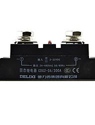 Однофазный ССР твердотельные реле 300а DC-AC бесконтактных реле DELIXI электрический cdg2-da300a