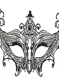 Mode Party Queen schwarz Metallfrauen Halloween-Maske